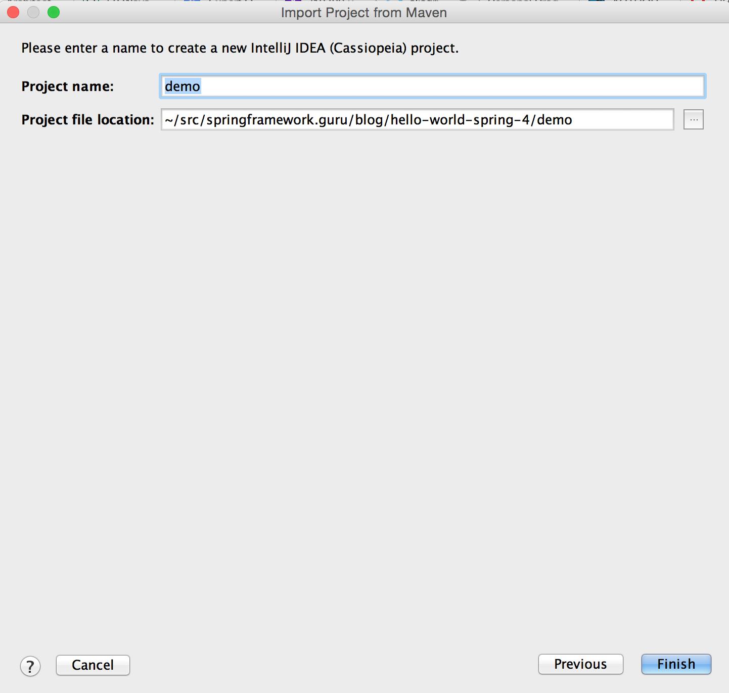 Hello World With Spring 4 - Spring Framework Guru