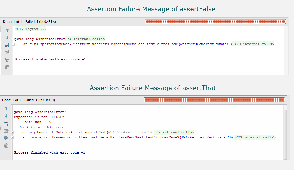 Assertion Failure Messages