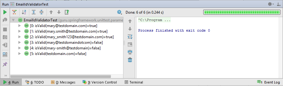 Parameterized Test Output