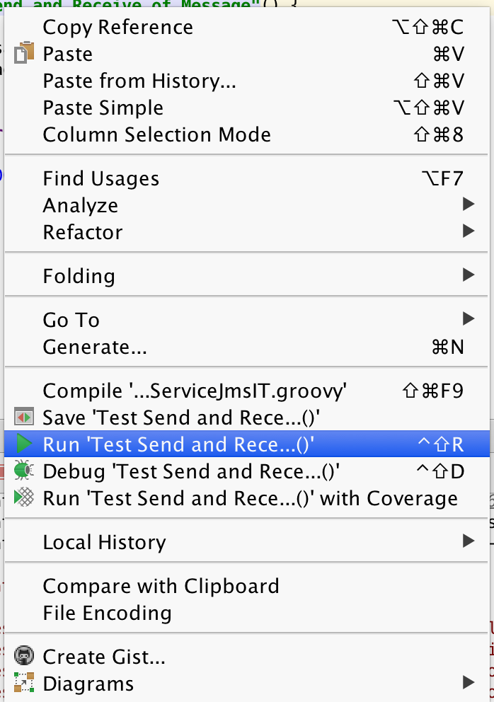 running a spock test in Intellij