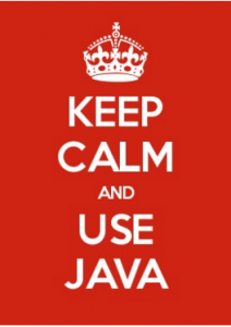keep calm and use java