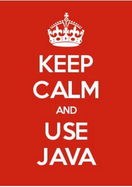 keep calm and use java