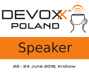 Speaking at Devoxx Poland