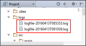 Log FIles Based on Timestamp from Logback
