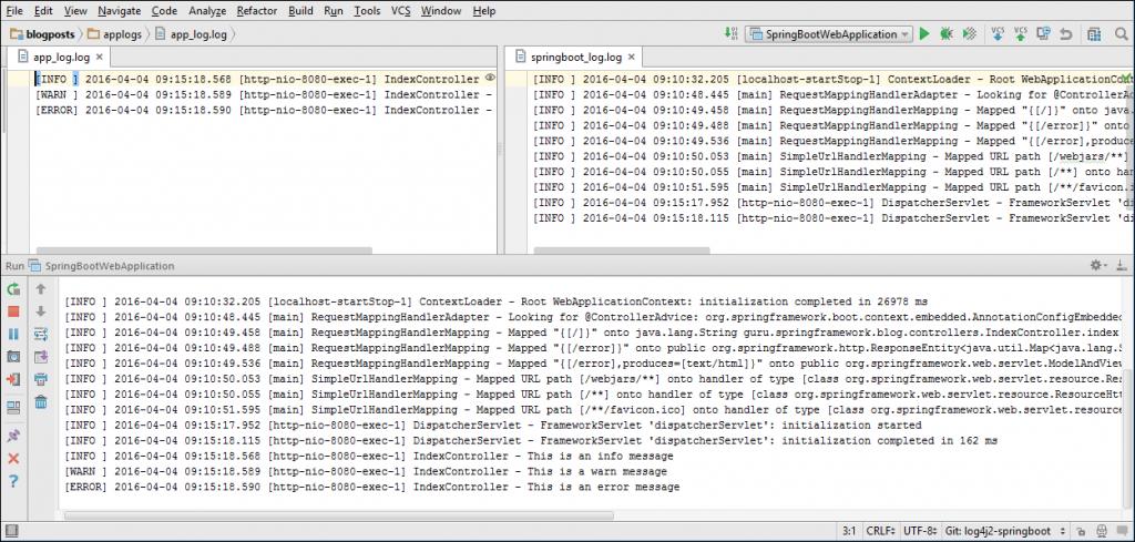 XML Logging Configuration Output