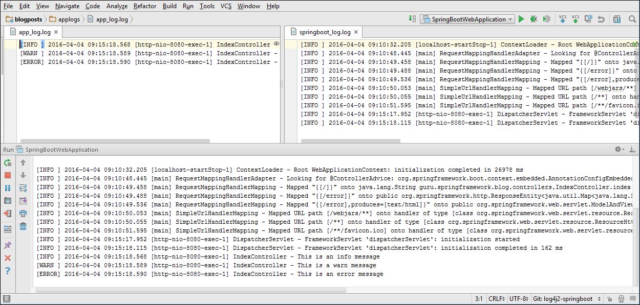 Using Log4J 2 with Spring Boot - Spring Framework Guru