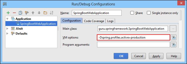 Run Debug Configurations Dialog Box