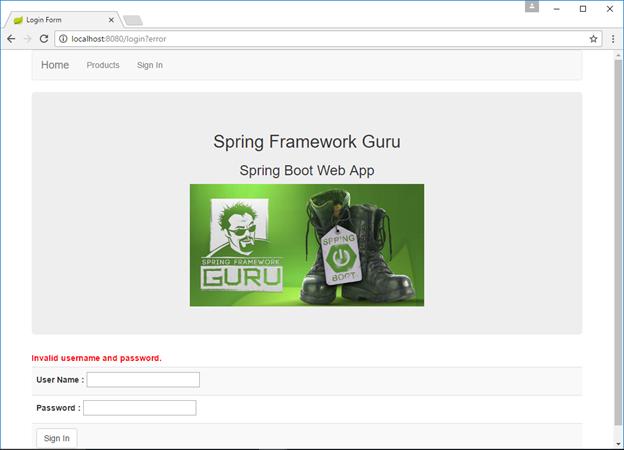 Spring Security Login Error Message
