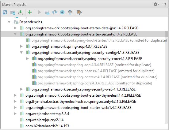 spring security dependencies in Maven