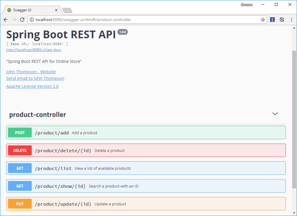 Spring Boot RESTful API Documentation with Swagger 2 - Spring