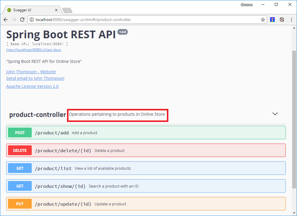Spring Boot RESTful API Documentation with Swagger 2
