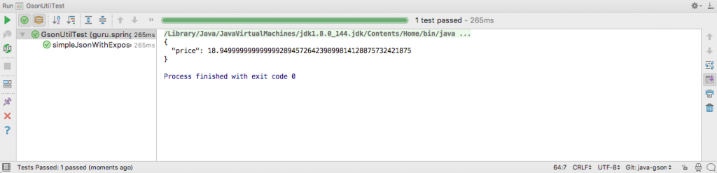 JSON Serialization with GSON with Eexpose Fields