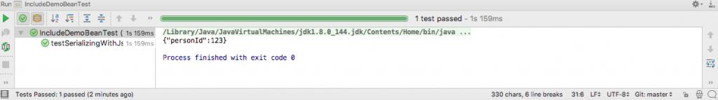 @JsonInclude Test Output