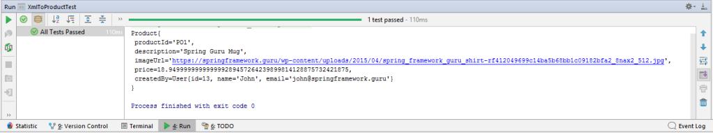 JAXB Unmarshalling Test Output