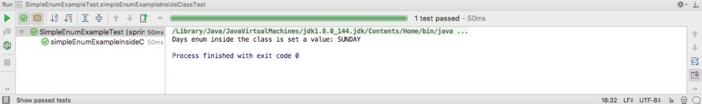 Java enum test output