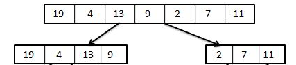 Merge Sort Step 1