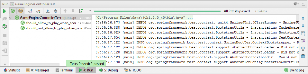 Test Output of Spring Cloud Contract