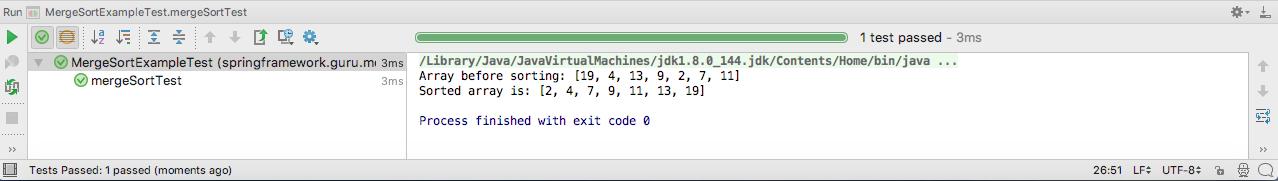 Merge Sort in Java - Spring Framework Guru