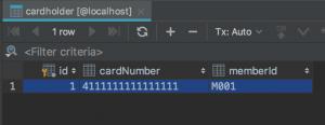 Cardholder database