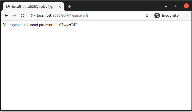 Output After Customized Credential