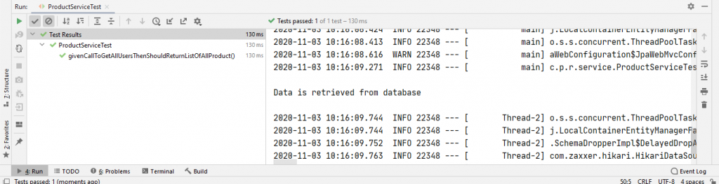 output for test case