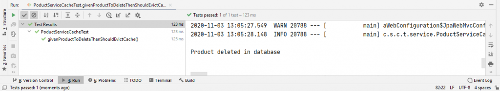 cache output for deletion