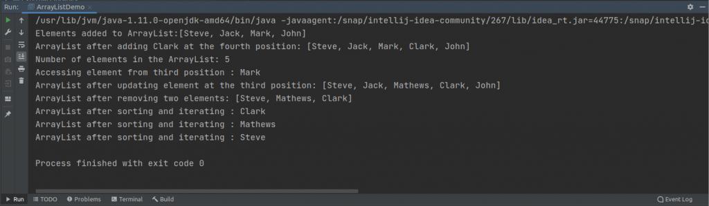 Iterating ArrayList
