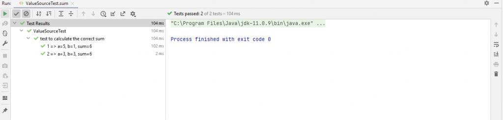 Output for CSV source