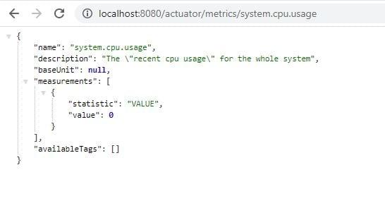 Spring Boot Actuator metrics