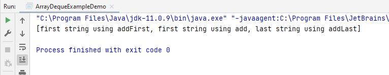 arrayDeque add methods